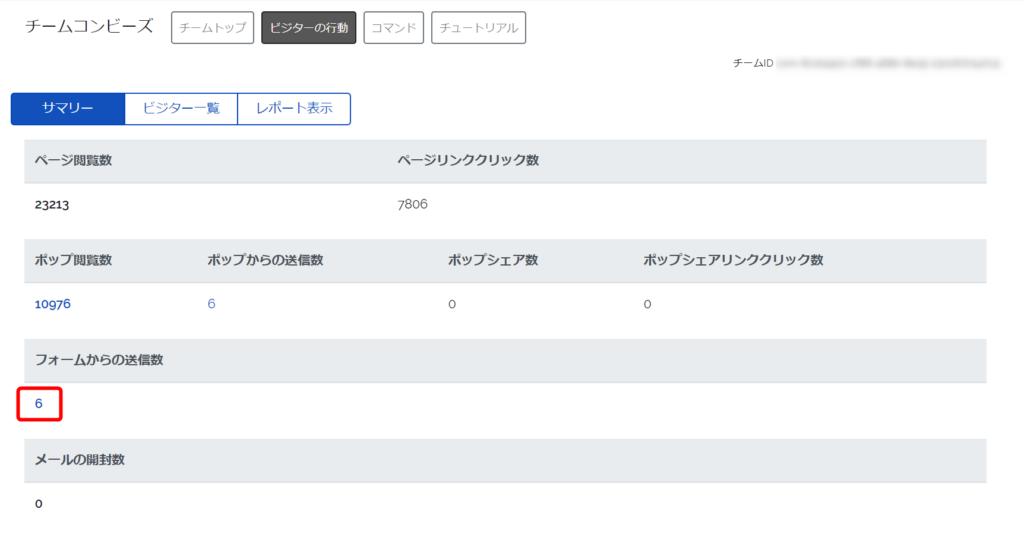 ビジターの行動管理画面